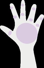 両手の甲指イラスト